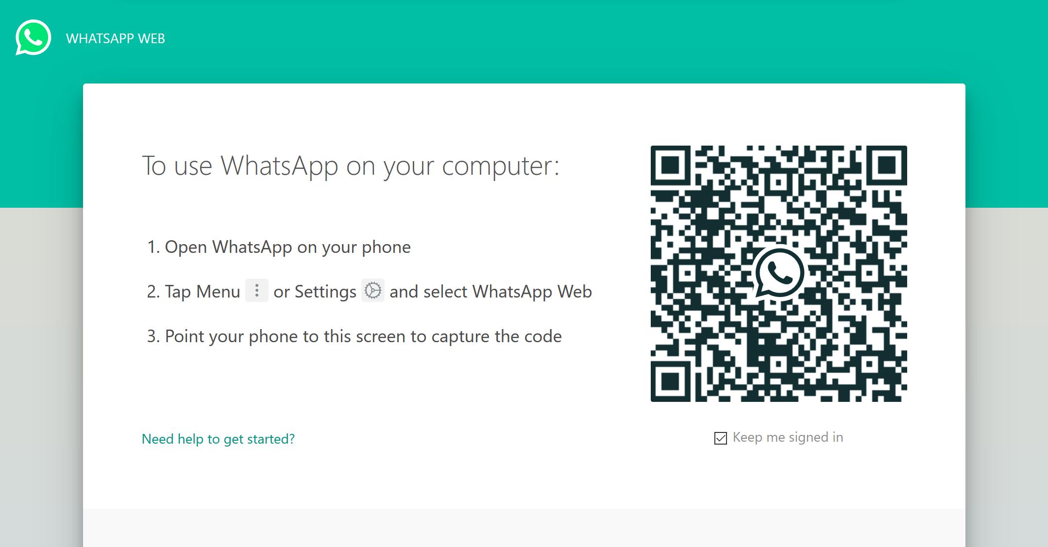 Using WhatsApp Web